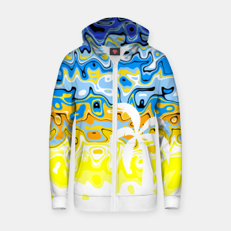 Thumbnail image of White Palm Island Zip up hoodie, Live Heroes