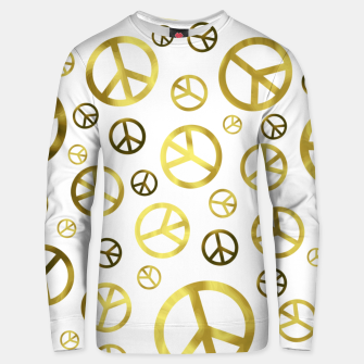 Thumbnail image of Peace Sign Golden Unisex sweater, Live Heroes