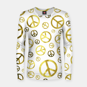 Thumbnail image of Peace Sign Golden Women sweater, Live Heroes