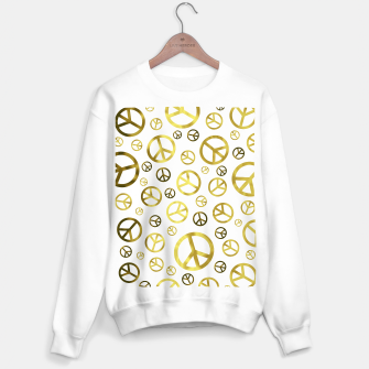 Thumbnail image of Peace Sign Golden Sweater regular, Live Heroes