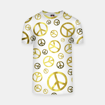 Thumbnail image of Peace Sign Golden T-shirt, Live Heroes