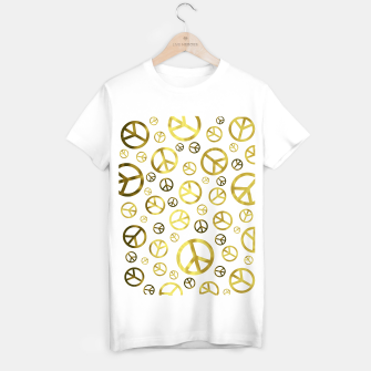 Thumbnail image of Peace Sign Golden T-shirt regular, Live Heroes