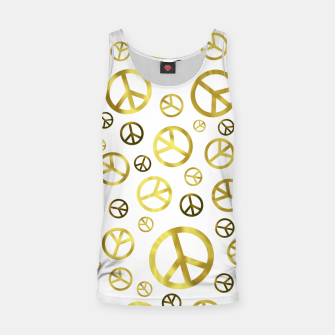 Thumbnail image of Peace Sign Golden Tank Top, Live Heroes
