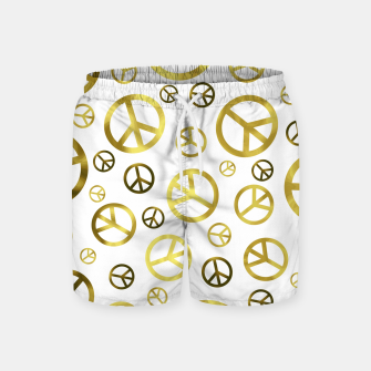 Thumbnail image of Peace Sign Golden Swim Shorts, Live Heroes