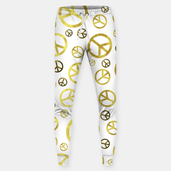 Thumbnail image of Peace Sign Golden Sweatpants, Live Heroes