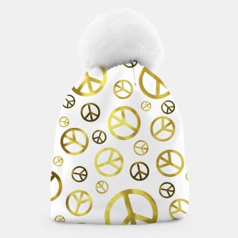 Miniatur Peace Sign Golden Beanie, Live Heroes