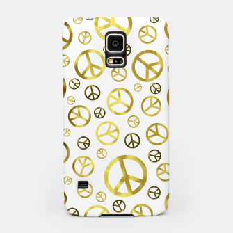 Thumbnail image of Peace Sign Golden Samsung Case, Live Heroes