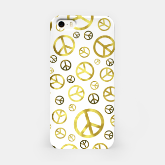 Thumbnail image of Peace Sign Golden iPhone Case, Live Heroes