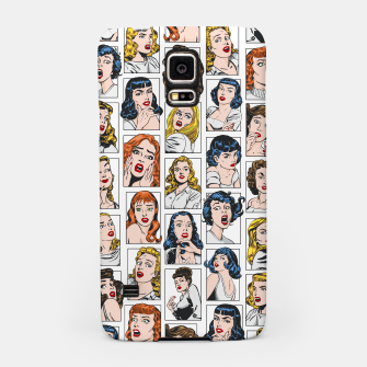 Miniatur Vintage Pulp Comic Pop Culture Pin Up Girl Art Pattern Color Samsung Case, Live Heroes