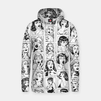 Thumbnail image of Vintage Pulp Comic Pop Culture Pin Up Girl Art Pattern Light Hoodie, Live Heroes