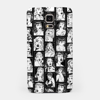 Thumbnail image of Vintage Pulp Comic Pop Culture Pin Up Girl Art Pattern Dark Samsung Case, Live Heroes