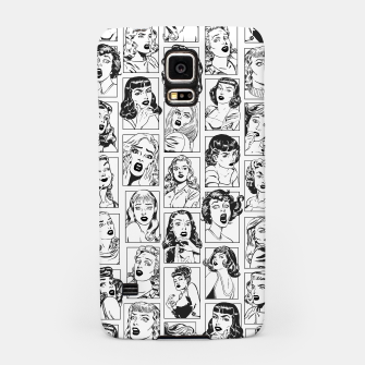 Thumbnail image of Vintage Pulp Comic Pop Culture Pin Up Girl Art Pattern Light Samsung Case, Live Heroes