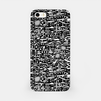 Miniatur Poetry of Spain: evening in Granada [monochrome v.]  iPhone Case, Live Heroes