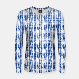 Thumbnail image of Blue and White Abstract Pattern  Women sweater, Live Heroes