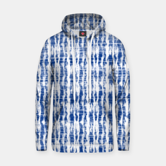 Thumbnail image of Blue and White Abstract Pattern  Hoodie, Live Heroes