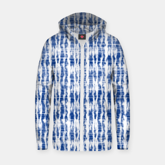 Thumbnail image of Blue and White Abstract Pattern  Zip up hoodie, Live Heroes