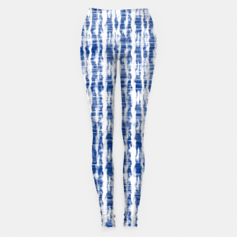 Thumbnail image of Blue and White Abstract Pattern  Leggings, Live Heroes