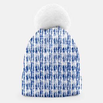 Thumbnail image of Blue and White Abstract Pattern  Beanie, Live Heroes