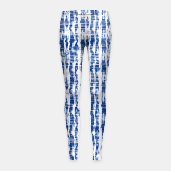 Thumbnail image of Blue and White Abstract Pattern  Girl's leggings, Live Heroes