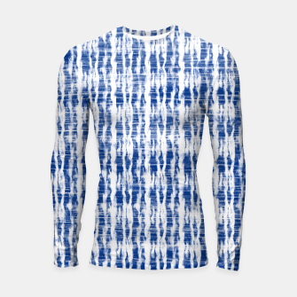 Thumbnail image of Blue and White Abstract Pattern  Longsleeve rashguard , Live Heroes