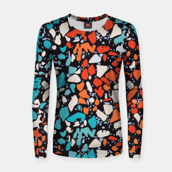 Thumbnail image of Orange Turquoise Abstract  Women sweater, Live Heroes