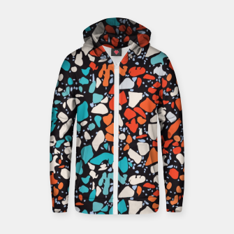 Thumbnail image of Orange Turquoise Abstract  Zip up hoodie, Live Heroes