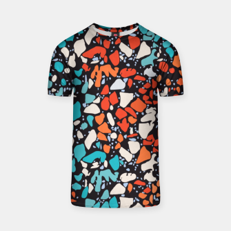 Thumbnail image of Orange Turquoise Abstract  T-shirt, Live Heroes