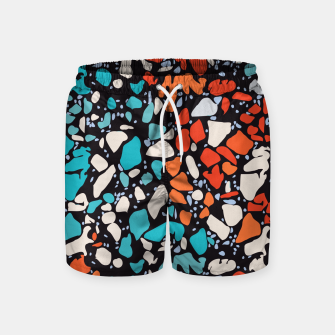 Thumbnail image of Orange Turquoise Abstract  Swim Shorts, Live Heroes