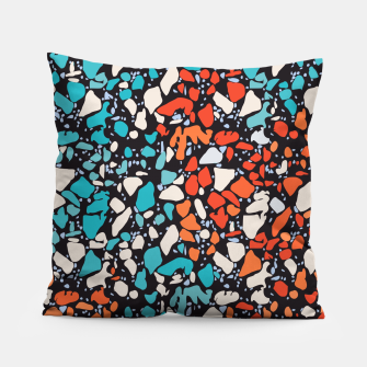Thumbnail image of Orange Turquoise Abstract  Pillow, Live Heroes