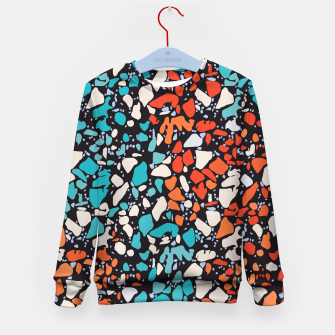 Thumbnail image of Orange Turquoise Abstract  Kid's sweater, Live Heroes