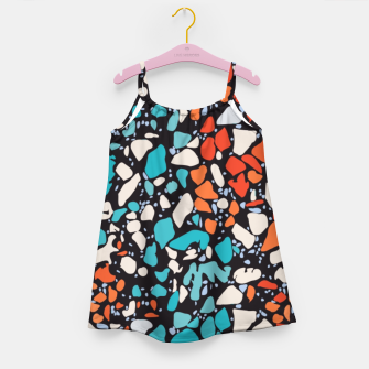 Thumbnail image of Orange Turquoise Abstract  Girl's dress, Live Heroes