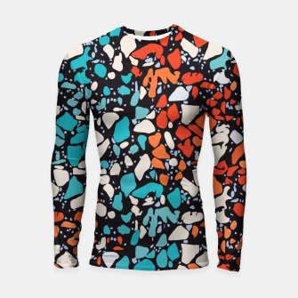 Thumbnail image of Orange Turquoise Abstract  Longsleeve rashguard , Live Heroes