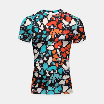 Thumbnail image of Orange Turquoise Abstract  Shortsleeve rashguard, Live Heroes