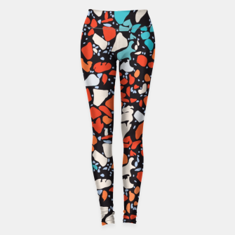 Thumbnail image of Orange Turquoise Abstract  Leggings, Live Heroes