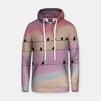Miniatur Birds on wire and colorful background Hoodie, Live Heroes