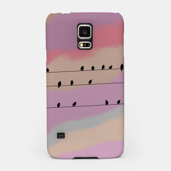 Miniatur Birds on wire and colorful background Samsung Case, Live Heroes
