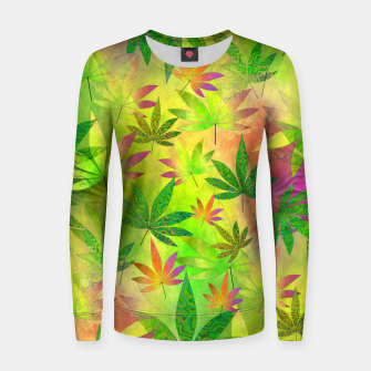 Thumbnail image of Weed 420 Design Women sweater, Live Heroes