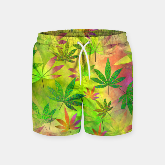 Thumbnail image of Weed 420 Design Swim Shorts, Live Heroes