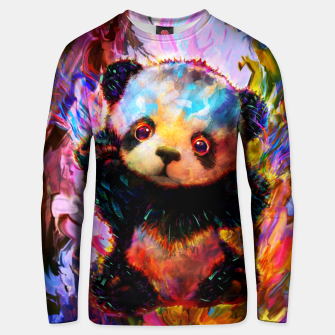 Thumbnail image of cute panda Unisex sweater, Live Heroes