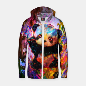 Thumbnail image of cute panda Zip up hoodie, Live Heroes