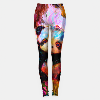 Thumbnail image of cute panda Leggings, Live Heroes