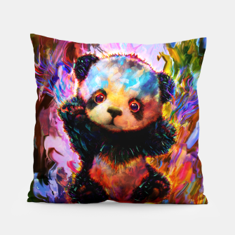 Thumbnail image of cute panda Pillow, Live Heroes