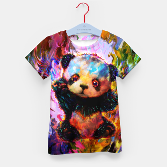 Thumbnail image of cute panda Kid's t-shirt, Live Heroes