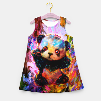 Thumbnail image of cute panda Girl's summer dress, Live Heroes