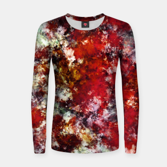 Thumbnail image of The red crying rocky surface Women sweater, Live Heroes