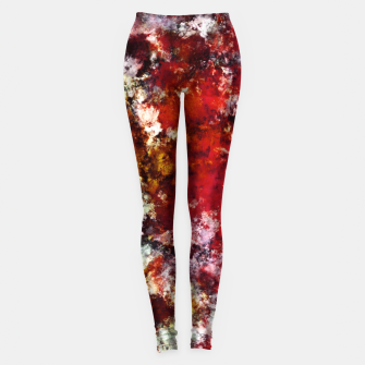 Thumbnail image of The red crying rocky surface Leggings, Live Heroes