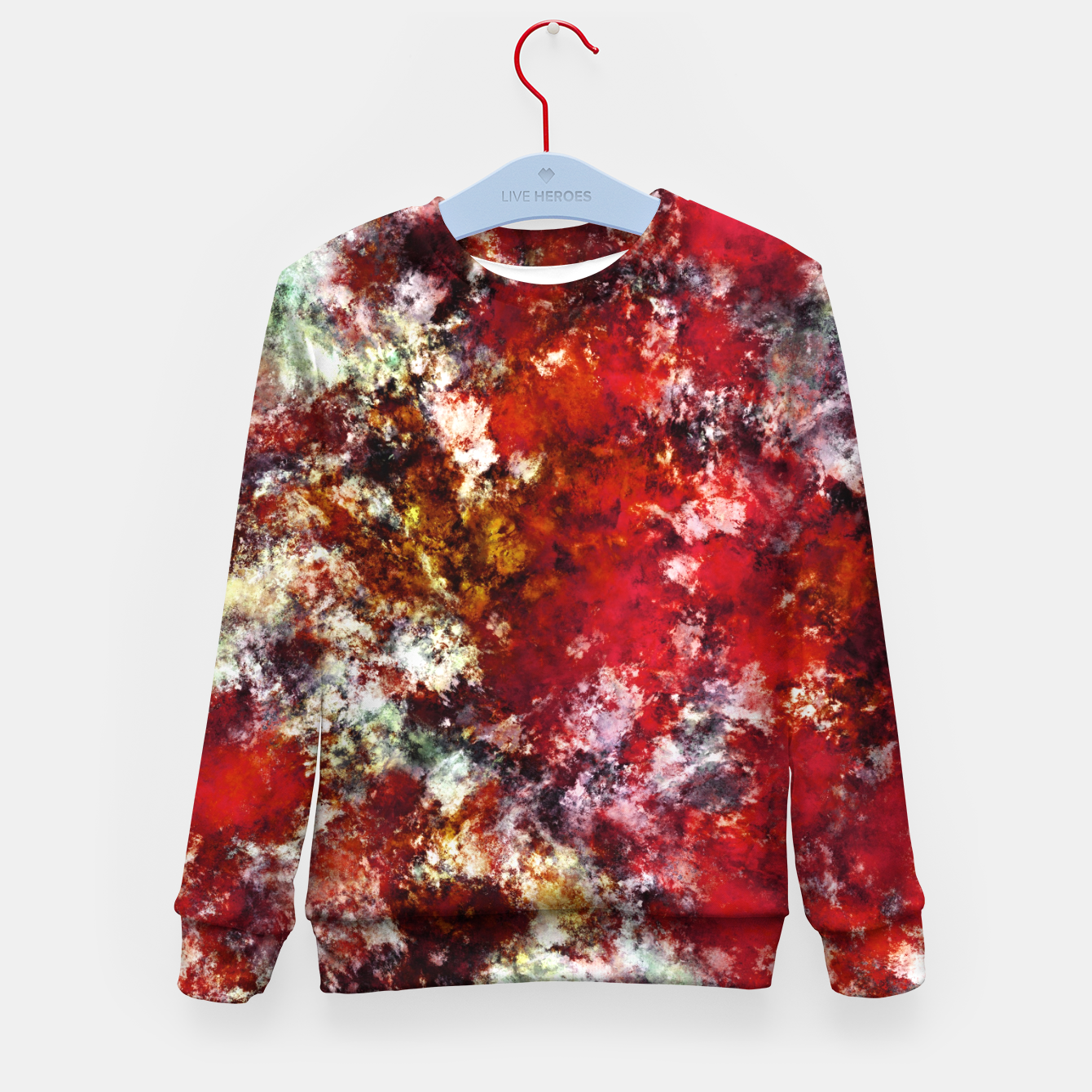 Image of The red crying rocky surface Kid's sweater - Live Heroes