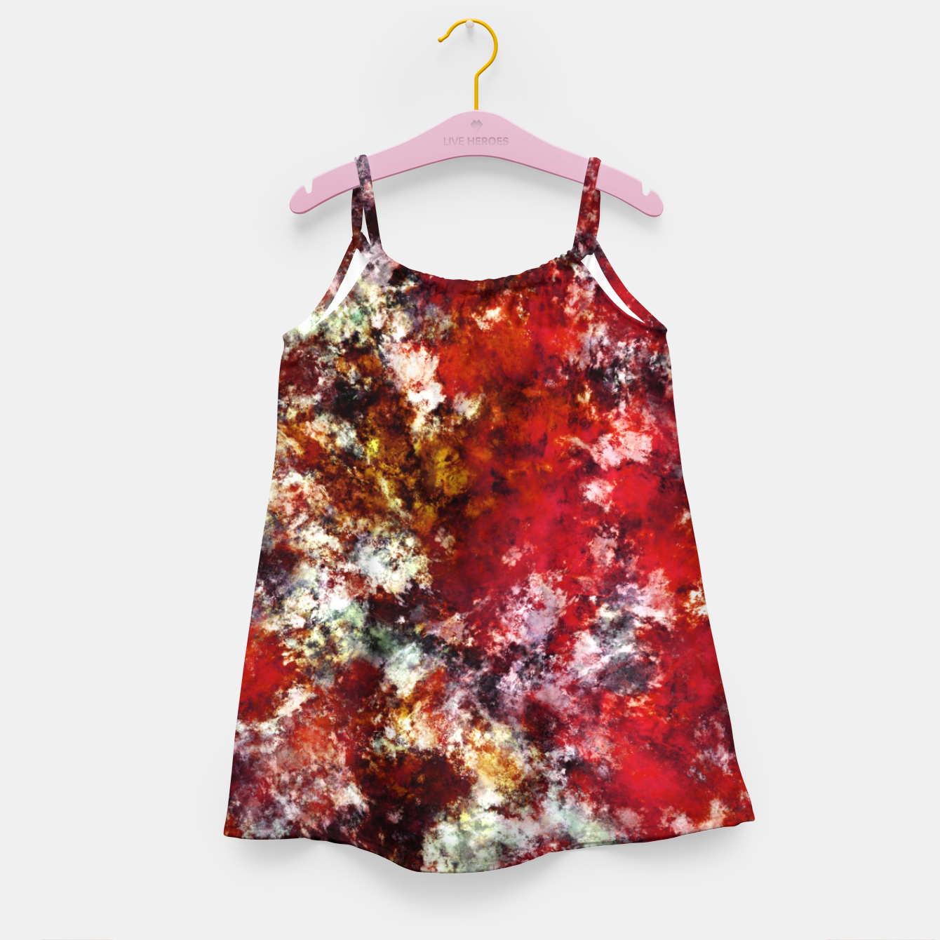 Image of The red crying rocky surface Girl's dress - Live Heroes