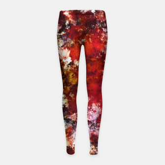 Thumbnail image of The red crying rocky surface Girl's leggings, Live Heroes