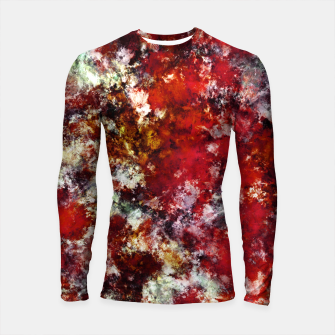 Thumbnail image of The red crying rocky surface Longsleeve rashguard , Live Heroes